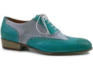 Oxfords Leonardo Shoes PINA 037 ACQUA/ARGENTO