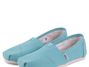 TOMS SHOES CLASSIC TURQUOISE CANVAS 10009732 Turquoise